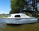 CZARTER łódź motorowa bez patentu KATHEDRAL wynajem Mazury motorówka